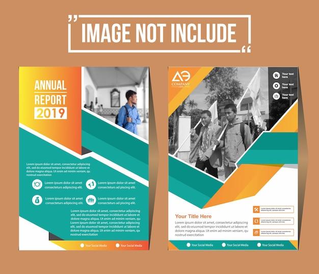 Projekt okładki szablon ulotka układ plakat magazyn roczny raport