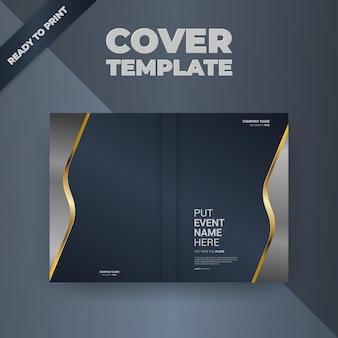 Projekt okładki szablonu broszury ulotki
