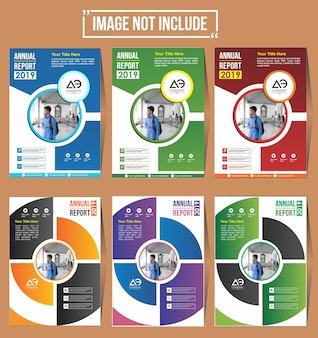 Projekt okładki ulotki broszury z kolorowym