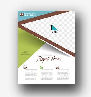 Projekt okładki ulotki i plakatu w ilustracji szablonu formatu a4.