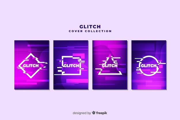 Projekt okładki z kolorowym efektem glitch