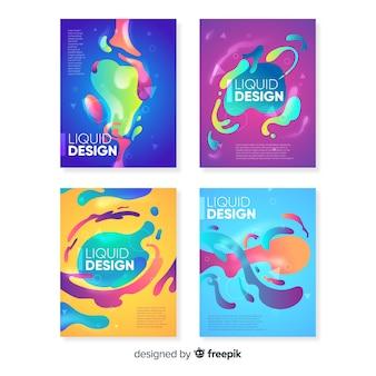 Projekt okładki z kolorowym efektem płynnym