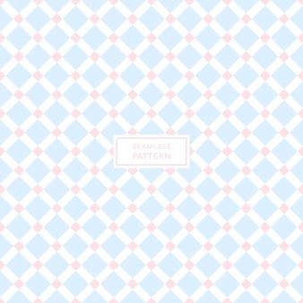 Projekt okładki z niebieskim, różowym i białym wzorem geometrycznym. bezszwowe tło kwadratowe.