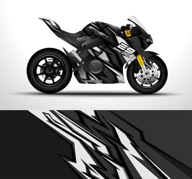Projekt okładu motocykla wyścigowego