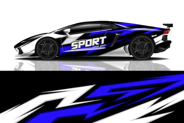 Projekt okładu sportowego samochodu