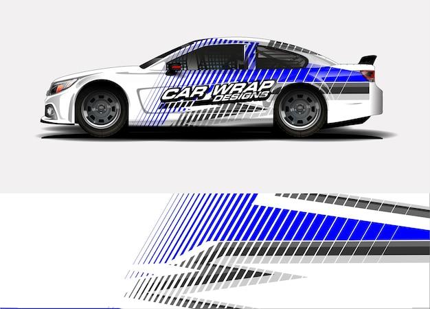 Projekt oklejenia samochodu wyścigowego. winylowa naklejka samochodowa i malowanie naklejek samochodowych