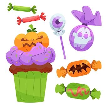 Projekt opakowania cukierków halloween