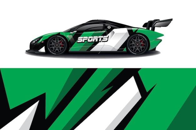 Projekt opakowania na samochód sportowy