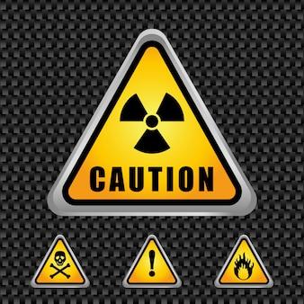 Projekt ostrzeżenia. illuistration