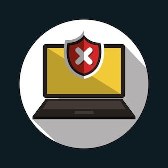 Projekt ostrzeżenia o błędzie laptopa