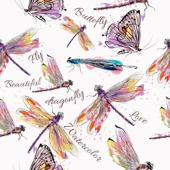 Projekt owady wzór