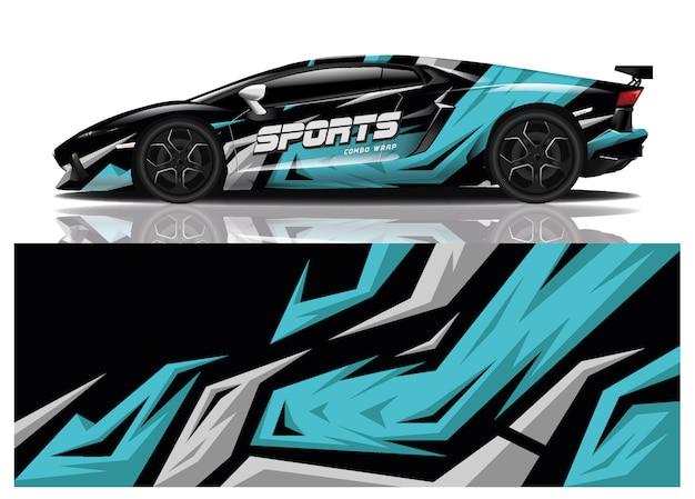 Projekt owinięcia naklejek sportowych samochodów