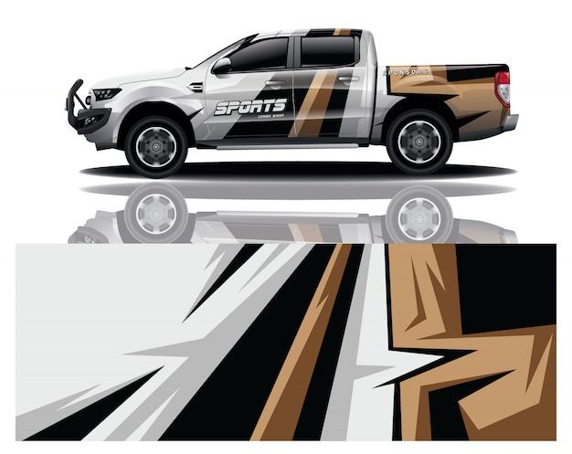 Projekt owinięcia naklejki ciężarówki