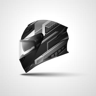 Projekt owinięcia sportowego kasku wyścigowego