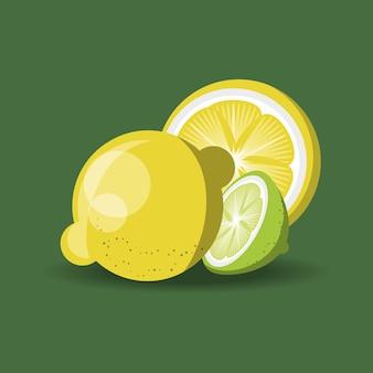 Projekt owoców cytrynowych z cytryn