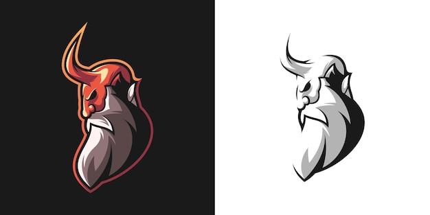 Projekt pakietu maskotki diabła brody