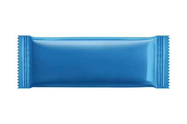 Projekt pakietu niebieskie ciasteczka biszkoptowe w ilustracji 3d