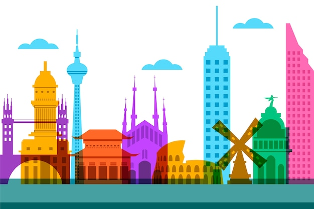 Projekt panoramę miasta