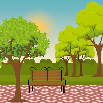 Projekt parku miejskiego.