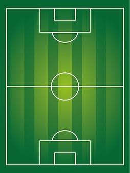 Projekt piłka nożna nad pole tło wektor ilustracja