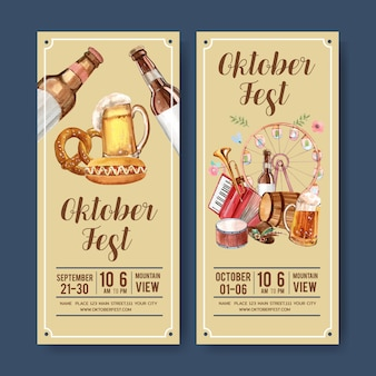 Projekt piwa, kiełbasy i ulotki muzycznej