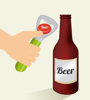 Projekt piwa na beżowym tle
