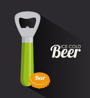 Projekt piwa na szarym tle