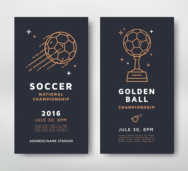 Projekt plakatów mistrzostw piłki nożnej
