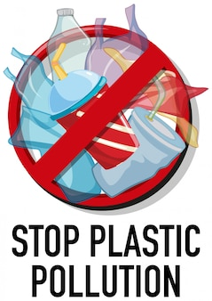 Projekt plakatu bez plastiku