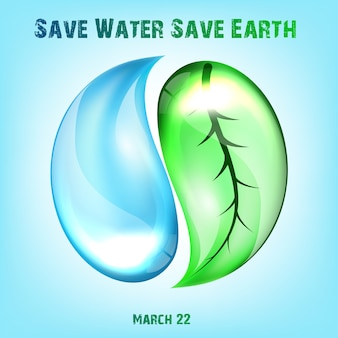 Projekt plakatu dzień wody