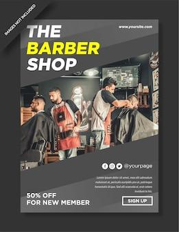 Projekt plakatu i ulotki dla zakładów fryzjerskich premium