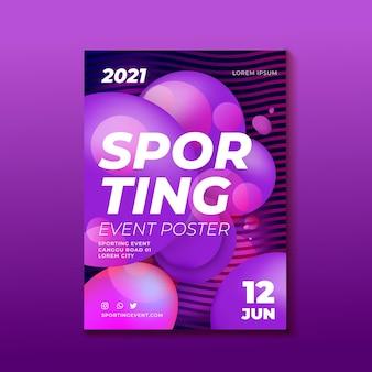 Projekt plakatu imprezy sportowej