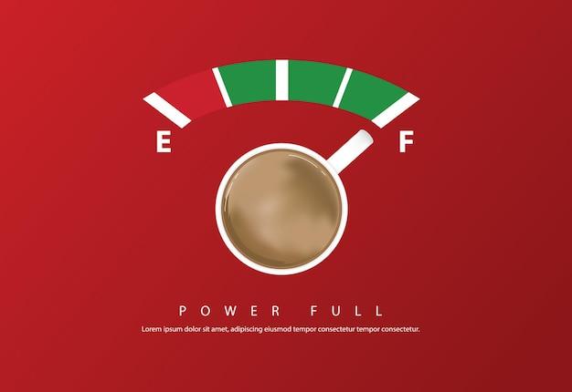 Projekt plakatu kawy reklama flayers ilustracja