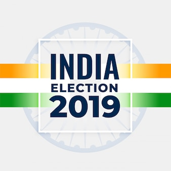 Projekt plakatu koncepcja wyborów indyjskich