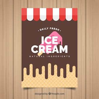 Projekt plakatu lodów