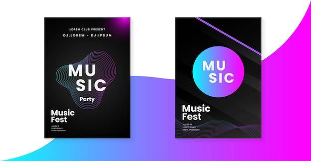 Projekt plakatu muzyki elektronicznej