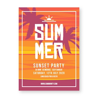Projekt plakatu na imprezie letniej