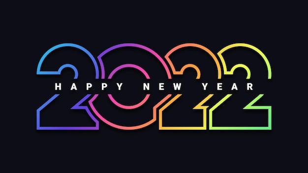 Projekt plakatu obchodów szczęśliwego nowego roku 2022