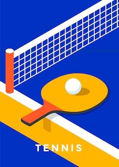 Projekt plakatu ping-pongowego