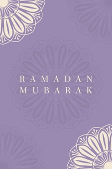 Projekt plakatu ramadan mubarak