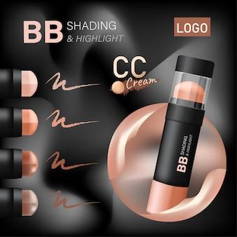 Projekt plakatu reklamowego produktu kosmetycznego projekt opakowania kosmetycznego bb reklama kremu