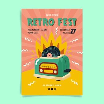 Projekt plakatu retro fest