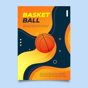 Projekt plakatu sportowego koszykówki