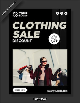 Projekt plakatu sprzedaży odzieży
