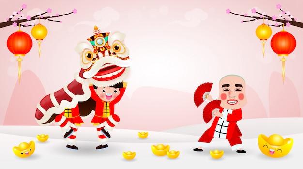 Projekt plakatu szczęśliwego chińskiego nowego roku 2021