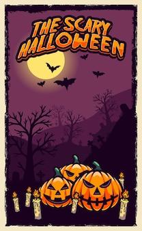 Projekt plakatu szczęśliwego halloween
