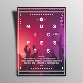 Projekt plakatu wydarzenia muzycznego 2021