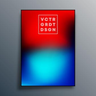 Projekt plakatu z gradientową teksturą na tapetę, ulotkę, okładkę broszury, typografię lub inne produkty drukarskie. ilustracji wektorowych