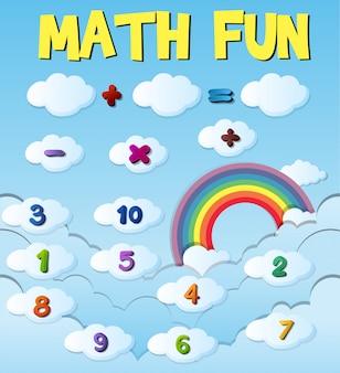 Projekt plakatu z liczbami i znakami