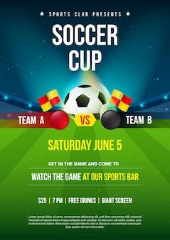 Projekt plakatu z zaproszeniem do piłki nożnej